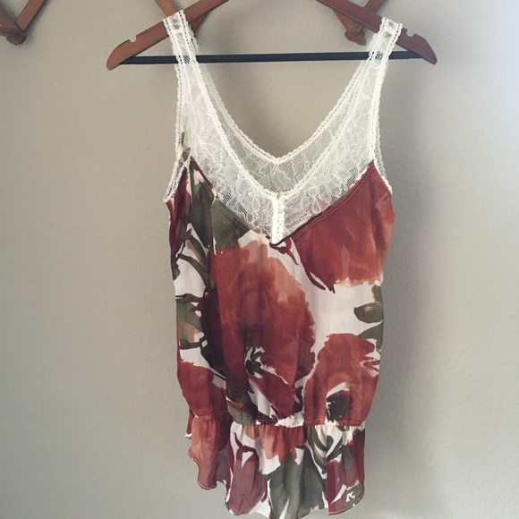 Abercrombie & Fitch Tops - Abercrombie + Fitch Floral Tank Top
